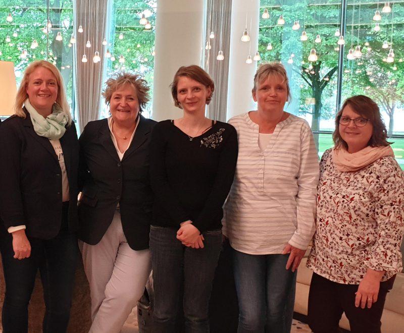 Das Team: Nadine Dzillack-KLitzing, Adriane Rutz, Cindy Bodnar, Karina Lüssenheide, Meike Müller